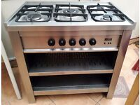 CDA Gas Range Cooker 90cm with Storage - Stainless Steel