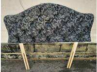 Black & Grey Single Headboard