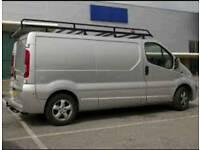 Vauxhall vivaro roof rack, internal racking and draeers