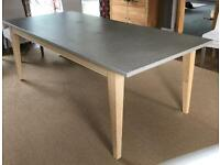 Loaf Conker 6 Seat Dining Table with Concrete Mix Top