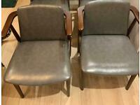2 x vintage style chairs