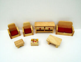 Wooden Furniture Set For A Dolls House. Ideal Christmas Gift