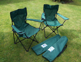 2 x Folding camping chairs - Unused