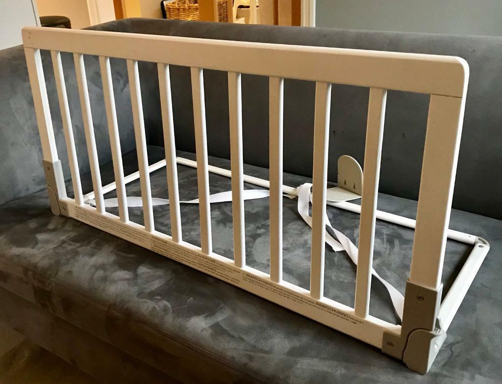 Babydan Wooden Bed Guard Rail White