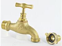 solid garden brass tap.new