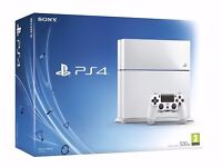 Playstation 4 white glassier 500GB NEW Sealed.