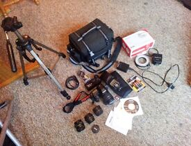 Pentax K5 with 5 lenses,+ extras