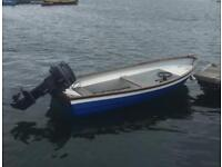 13ft Carrick Fisher boat with Evinrude 25hp outboard
