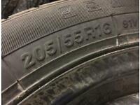 205/55/16 205 55 16 goodyear efficientgrip performance new Tyres car ford rims wheels