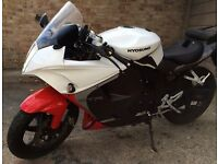 2015 Hyosung GT 125 RC GT125RC White Low Mileage Looks Great Comfortable/Steady Rides