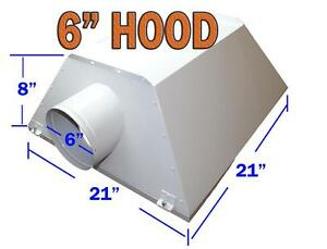"6"" & 8"" Inch Hydroponic Air Cooled Grow Lights Reflector Hood"