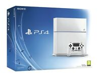 Brand New Sony Playstation 4 500gb White with 4 Games