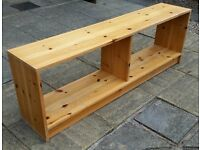 tv table bench, solid pine wood. 120cm wide. in good condition.