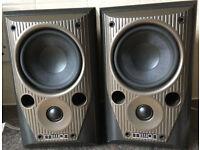75W Denon Mission M70 2 Way reflex monitor bookshelf speakers GREAT SOUNDS!