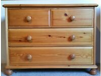 *SOLD* Danish Chest of drawers, 2+2 in solid pine