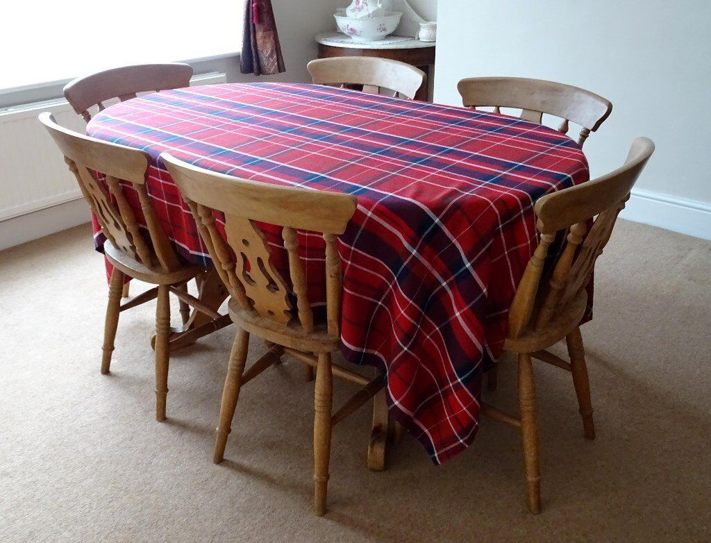 solid pine dining table 6 chairs reduced price 100 in