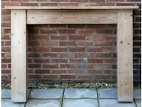 Reclaimed pine fire surround