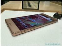 Sony xperia x like new boxed in rose gold without a mark, unlocked to all networks