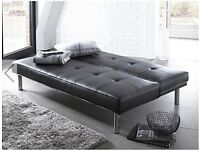 Sienna Faux Leather BLACK Sofa bed Click BLACK BRAND NEW BOXED