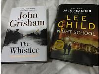 John Grisham and Lee Child latest hardback books
