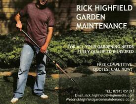 RICK HIGHFIELD GARDEN MAINTENANCE