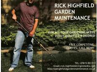 RICK HIGHFIELD GARDEN MAINTENANCE