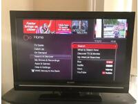 """Sharp Aquos 32"""" HD Ready LCD TV with built in free view"""