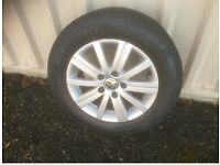 Golf rims & tyres .. 3 really good tyres as picture 1 not as much thread. Rims good condition .