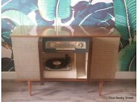 Ex Condition Mid Century Modern 1960s Vintage Pye G73 Radiogram Stereogram Record Player Radio