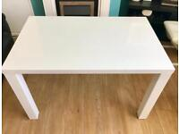 ~WHITE HIGH GLOSS DINING TABLE~