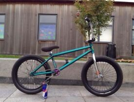BMX FitBike Trans Teal customised