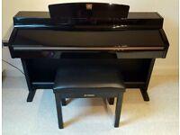 Yamaha Clavinova CLP-240PE glossy black Piano Full Size 88 keys 3 pedals stool