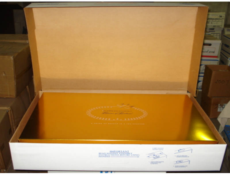 Wedding Gown Preservation Storage Boxes Keystone Gold Foil Box and Strong  Case