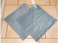 *Brand New* Velour Cushion Covers x 2 (50 x 50cm, Blue)