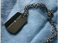 Unusual Titanium and Diamond pendant.