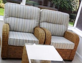 Conservatory Furniture - Armchairs – as new – £325 each - open to sensible offers