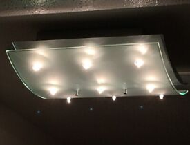 Ceiling Light - Chrome and Lightly Frosted Glass