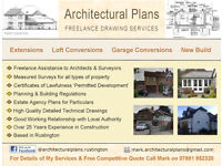 Freelance Architectural Drawing Services / Floor Plans / Measured Surveys / Planning / Building Regs