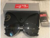 BNWT Ray Ban Polarised Carbon Fibre Aviators RB8313 Blue