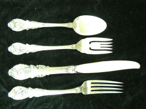 1 SIR CHRISTOPHER 4 PIECE STERLING PLACE SETTING NO MONO LITTLE USE HAVE 20 SETS