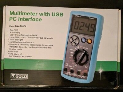 Precision Gold Digital Multimeter Usb Frequency Tester Meter W Leads Software