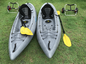 2 x VIKING NEMO KAYAKS w/ seat, paddle & trolley! Golden Beach Caloundra Area Preview