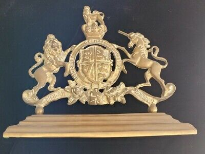 Cast Brass Sculpture of United Kingdom Royal Coat of Arms