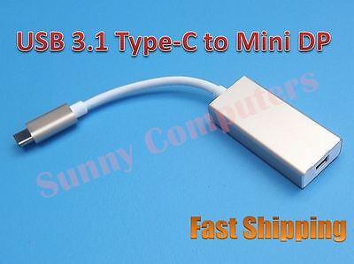 USB 3.1 Type-C to Mini DisplayPort MDP 4K 1080p HDTV Hub Adapter Data Cable AU Hdtv-hub