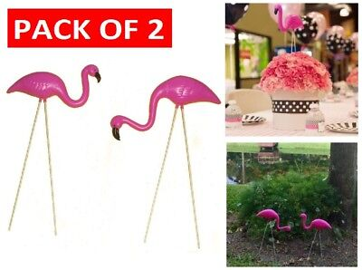 PLASTIC PINK FLAMINGO Yard Outdoor Lawn Decor Garden Wedding Art Ornament Statue
