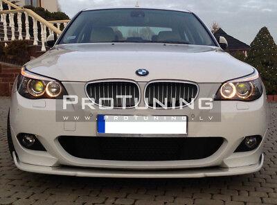 Para BMW E60 E61 Hm Estilo Parachoques Delantero Divisor Accesorio Alerón Falda