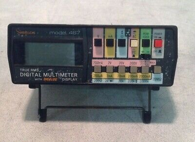 Simpson True Rms Digital Multimeter With Digalog Display Model 467