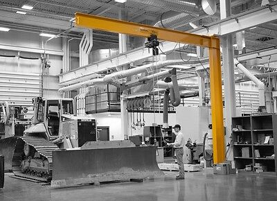 Gorbel Full Cantilever Jib Crane - 1 Ton Capacity Span 10 Ft Oah 10 Ft