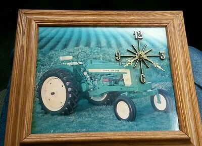 Vintage RARE JOHN DEERE Wall Clock with Farm Scene Tractor