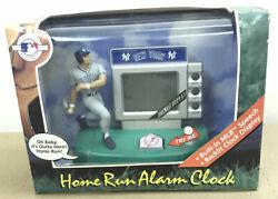 Yankees home Run Alarm Clock • Built In MLB Speech • Backlit Clock Display